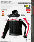 Racing Jacket Motorcycle clothes JK021 LED with NECK protector Ivoy color