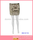 Lady's Fashion Sequin Mini Skirt;Beaded Skirt