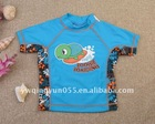 UPF50 Turtle Short Sleeve Rash Guard For Baby