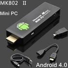 Black/White Mini PC MK802 II Android 4.0 IPTV Google Internet TV Smart Android Box 1GB DDR3 4GB ROM Allwinner A10 HDMI