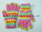 colorful girl touch screen glove