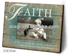 Rustic Green Faith Baby Photo Frame