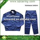 High quality Blue with white high visibility reflective safety workwear/work clothes