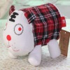2012 fashion red check tiger design cotton fabric toilet tissue cover