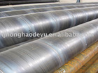 API 5l GrB standard large spiral steel pipe with API certificates