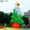 vivid artificial inflatable christmas tree with star