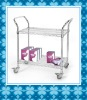wire chrome catering cart