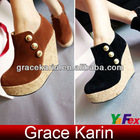 Women Ankle Wedges Suede Short Boots SH50