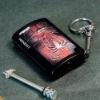 Honest keyring key chain Petrol Oil Match Lighter