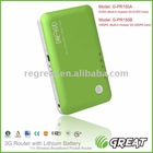 Pocket 3g wifi router sim slot (evdo/hsdpa) 150M with battery like huawei e5