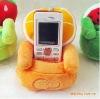 orange sofa phone holder
