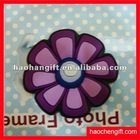 Flower shape rubber pvc fridge magnet
