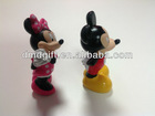 promotion items plastic Mickey and Minnie figure toy for kids