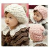 New Multifunction Baby Beret Wool Ball Cap Children Keep Warm Hat Fashion