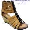 2012 New fashion lady wedge gladiator sandals shoes