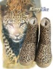 2012new design Leopard flat knee high boots for women/snow boots