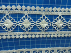 DIY polyester long ivory lace material for skirt