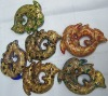 new arrival dolphin yellow amber coloured glaze beads
