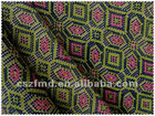Printed Linen cotton blend fabric
