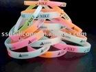 mix-color silicone bracelet