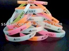 mix-color silicone bracelet