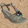 Women High Heel Beaded Sandals 2013