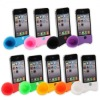 Rabbit Ear Style Silicone Stand Analog Acoustic Sound Amplifier Speaker for iPhone 4 4G 4S