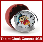 Mini table clock camera motion detection 640x480 build in 4GB