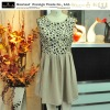 new fashion dress, chiffon ,pwatch work , sleeveless , print dress.