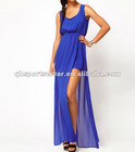 Maxi Chiffon Dress With Thigh Split