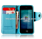 SHOWKOO Designed Credit Card Slot Wallet Leather Case for iPhone5 5G