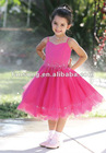 Lovely spaghetti strap beaded organza first communication dress