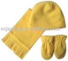 polar fleece hat scarf glove set