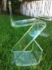 Acrylic /Plexiglass MidCentury Zig Zag Barstool chair