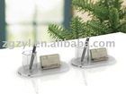 Office Acrylic Business Card Holder with pens holder