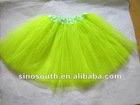 neon green adult long ballet tutu skirt