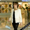 New style white beige sheared genuin rex rabbit fur jacket women fur coat 2012 #082-B-1