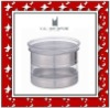round shape and stainless steel canister with lid