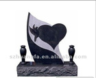Natural Black granite menorial tombstone from factory