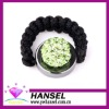 Rhinestone woven adjustable paved shamballa rings