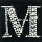 2012 Hot Sale Crystal Sticker/Shining Bling Bling Letter Designs