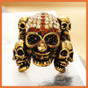 newest fashion rhinestone skull ring for women