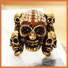 newest fashion rhinestone skull ring for women