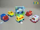 Wind up cartoon car with light and music,6 styles mxied