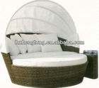 canopy bed frame /rattan bed