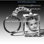 modern photo crystal keychain