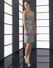 In Stock 2012 Hot Selling Straps Knee Length Sleeveless Cheap Party Dresses