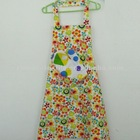 100% Cotton Printed Kitchen Cheap Cute Aprons Wholesale with Pocket