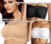 seamfree hosiery removable pad bandeau tube bra top with pad