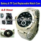 Battery & TF Card DIY Replacement Promotion 640*480 Digital Watch DVR,4.5 Hour Super Long Video Recording